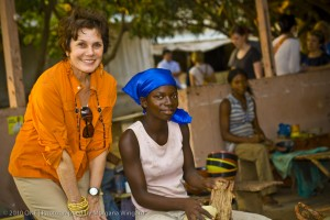Maureen Orth at Tekura Gifts & Home Accessories in Ghana